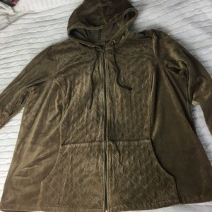 Avenue Quilted Velour Hoodie Size 22/24